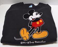 MICKEY MOUSE Black Sweatshirt Vintage Disney Pullover Crew Neck XL Soft USA