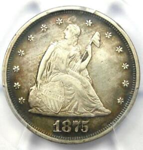 1875-P Twenty Cent Coin 20C - Certified PCGS XF Details - Rare Date 1875 Coin!