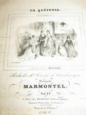 Ant. Fr. MARMONTEL (1816-1898) PARTITION ENVOI AUTOGRAPHE MUSIQUE PIANO AUVERGNE