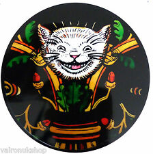 STAINED GLASS WINDOW ART STATIC CLING ALICE IN WONDERLAND - THE CHESHIRE CAT