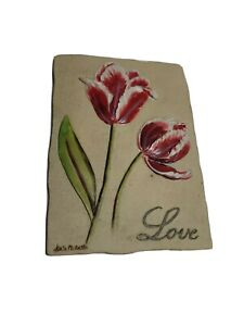 3D Resin Wall Plaque Love Floral Tulip  by Kate McRostie