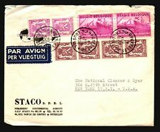 Belgium 1950 Airmail Cover to USA / Light Creasing - L507