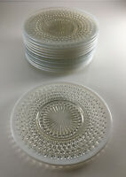 "Anchor Hocking Moonstone 8 1/2"" Luncheon / Salad / Desert Plates (13 Available)"