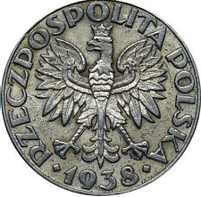 50 GROSZY 1938 Vz Vernickelt Polen Poland Au