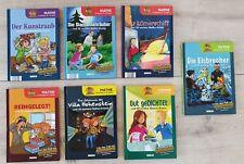 Kinderbücher Lernbücher Lernkrimi Inspektor Set Clever Mathe Chemie Physik 7 Stk