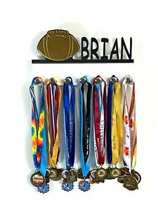 Custom Personalized Name Medal Holder Football Award Wall Display Hook Hanger