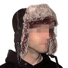 Wintermütze Fellhaube Fliegerkappe warm cool modisch schw S M L Schlapp Schapka