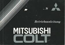 MITSUBISHI COLT 2 Betriebsanleitung 1985 Bedienungsanleitung  Handbuch BA