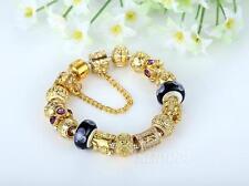 Popular 18K Gold Charm Bracelet for Women With Quality Murano Beads AU STOCK