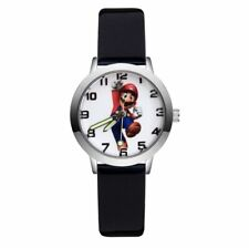 Super Mario Wrist Watches Game Character Blacks Strap Kids Boys Girls Analogue