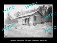 OLD LARGE HISTORIC PHOTO OF YATESVILLE PENNSYLVANIA ERIE RAILROAD STATION 1910 1