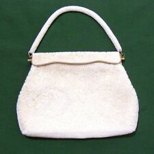 Vintage Voguemont Hong Kong White Beaded Evening Purse Handbag