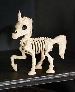Mythical Unicorn Skeleton Poseable Halloween Prop Decoration Statue