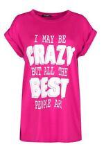 Magliette da donna a manica corta rosa viscosa