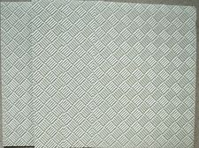 5 x A5 Light Silver Pearl Chequered Pattern Embossed CARD 275gsm NEW