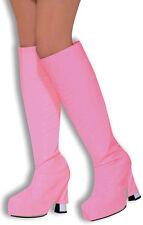 Disco Go Go Stiefelüberzieher pink NEU - Zubehör Accessoire Karneval Fasching