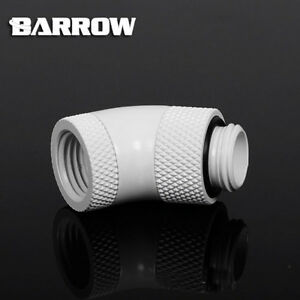 """Barrow G1/4"""" White 45 Degree Double Rotary Male to Female - 298"""