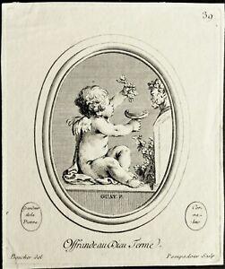 Rare eau-forte originale de Madame de Pompadour
