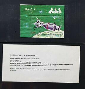 s413B) Raumfahrt Space  Russel M. Schweickart  Apollo 9  Autogramm Signature OU
