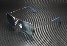 RAY BAN RB3136 9156Aj Caravan Copper Mt Dark Blue Bi Mirror Grey 55mm Sunglasses