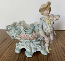 "Maulin Occupied Japan Pastel Figurine Planter Collectable  6 1/4"" T Decorative"