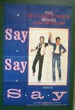 MICHAEL JACKSON/PAUL Mc CARTNEY -AFFICHE ORIGINALE- SAY SAY SAY -TRES RARE-1983