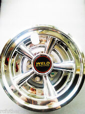 "Golf Cart EZGO Yamaha Club Car 8"" Weld racing Chrome Wheel Cover Hub Caps 4 sets"