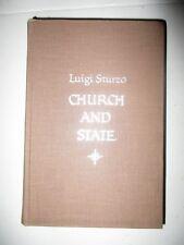 Luigi Sturzo CHURCH AND STATE Tr. Barbara Carter Intro A Robert Caponigri NF/0