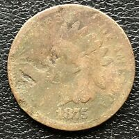 1875 Indian Head Cent 1c Circulated #21632