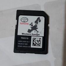 Toyota TNS 510 Navigation Carte SD Sat Nav Map 2008-2009 PZ445-SW333-08 Europe UK