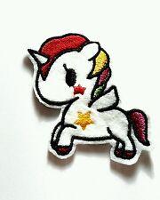 Toki Doki unicorn iron on patch 70mm x 60mm