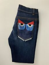 Fendi Monster Jeans Blue Demin  Skinny Stretch Age 8 Years Vgc