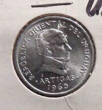 UNCIRCULATED 1965 50 CENTESIMOS URUGUAY COIN (70716)