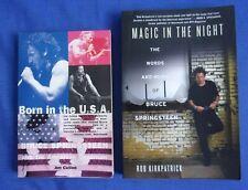 Bruce Springsteen Born Usa Cullen-Magic Night Kirkpatrick Softcover Lot-2 Books