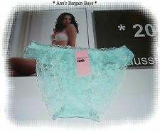 Menglijie-Ladies-Size 10-12-Super Soft-Floral Lace-Bikini-Brief-Pale Green-BNWT!