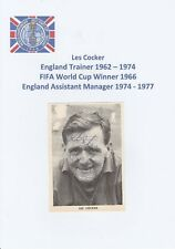 LES COCKER ENGLAND TRAINER 1962-1974 VERY RARE ORIGINAL SIGNED ANNUAL CUTTING