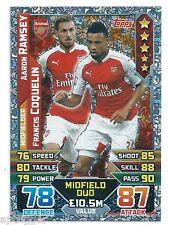 2015 / 2016 EPL Match Attax Duo (442) RAMSEY / COQUELIN Arsenal