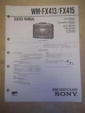 Sony Service Manual~WM-FX413/415 Walkman Radio Cassette Player~Original
