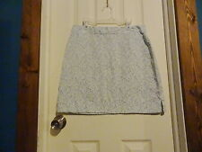 Womens American Eagle Outfitters Blue and Green Floral Stretch Skirt Size 6