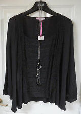 Per Una Open Front Jersey Cardigan, Size 12, Black, BNWT, Was £35