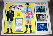 LAUREL AND HARDY'S LAUGHING 20's original 22x28 movie poster