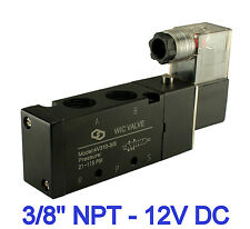 """3/8"""" Inch 4 Way Directional Control Cylinder Electric Solenoid Air Valve 12V DC"""
