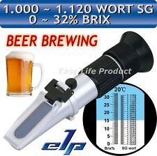 Refractómetro Refractometro 0~32% Brix 1.120 SG Vino Cerveza Infusión Hierba