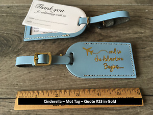 50 cinderella blue, (stryle MOT),Wedding, leather, escort luggage tags $3.65