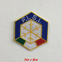 FISI Italy ski Sports Art Badge Iron or Sew on Embroidered Patch