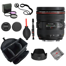 Canon 24-70mm f/4L IS USM Lens Camera Bag 3pc Filter Pen Dust Blower