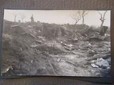 Flandern, Raum Cambrai, 81. RD, zerstörtes Lager, original Foto 1918 (38060)