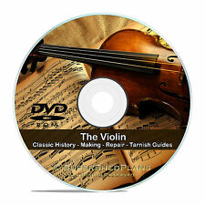 Vintage Violin Repair Books, Luthier's Library, Restore, Make Varnish CD V53