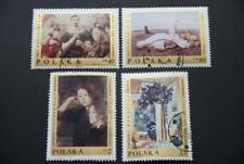 Polen, 1970, Gemälde (4 Marken postfrisch mit Stempel)