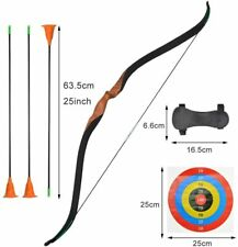 Archery Wooden Youth Recurve Bow Sucker Arrow Arm Guard Target Paper Junior Gift